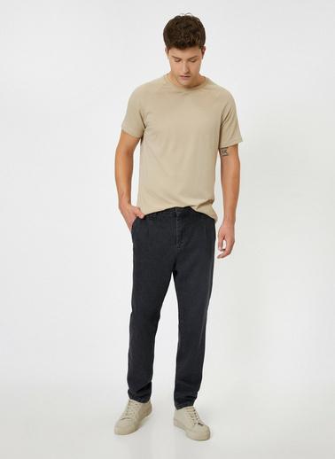 Koton Cep Detaylı Jean Pantolon Siyah